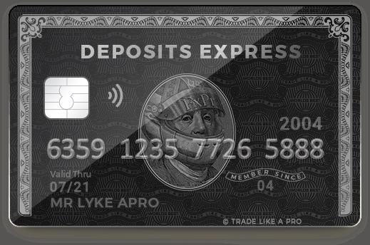 Fxpro express card