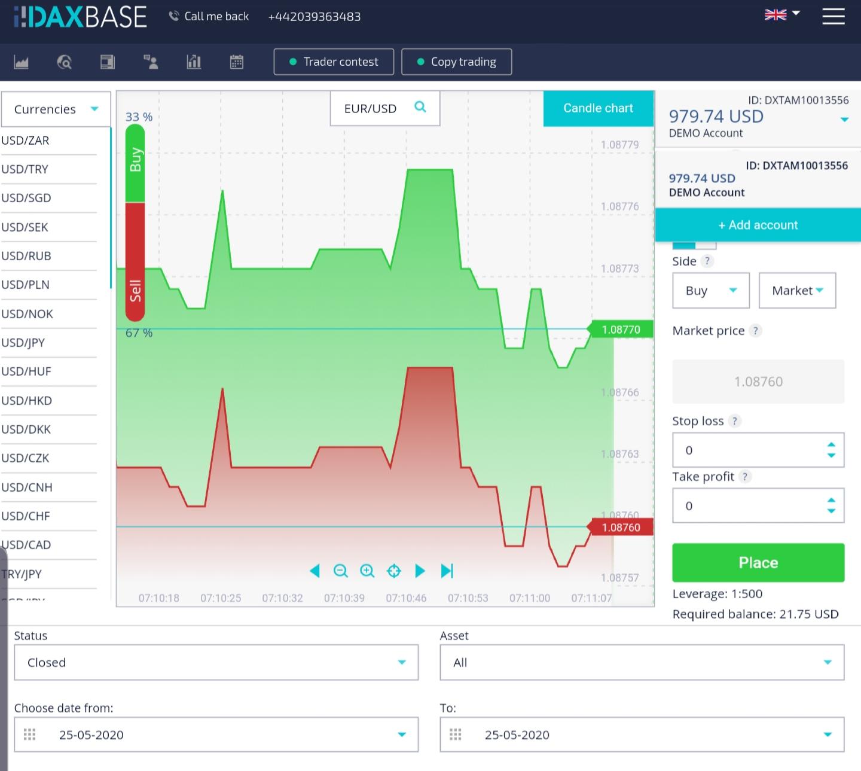 Daxbase platform